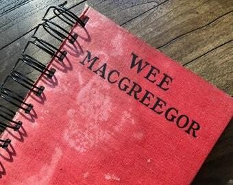 """Journal, Vintage Book, """"Wee MacGreegor"""", Spiral Bound Journal, Old Book Journal, Red Journal, Writing Journal, Drawing Journal"""