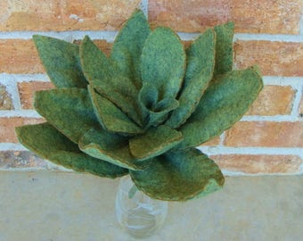 Large Succulent PDF Pattern for Wool Felt Blend Fabric