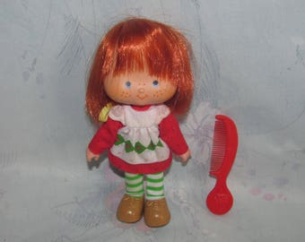 Vintage American Greetings/Kenner Strawberry Shortcake Doll with Outfit, Shoes, Comb