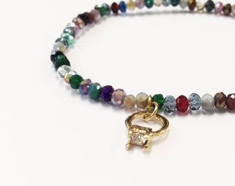 Elastic Beaded Bracelet, Beaded Bracelet, Friendship Bracelet, Stacking Bracelet, Seed Beads Bracelet, Gift, Present, Handbag, Diamond ring
