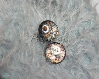 Shiny glitter gray Eyechipsr handpainted for Neo blythe