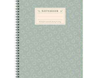 Notebook A4 - Turqoise-Pattern