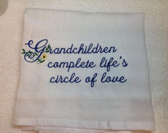 Kitchen towel, personalized embroidery, kitchen towels, dish towels, personalized towels, flour sack towels, kitchen gift, grandmas kitchen,