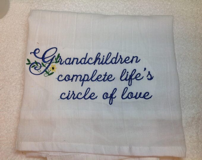 Featured listing image: Kitchen towel, personalized embroidery, kitchen towels, dish towels, personalized towels, flour sack towels, kitchen gift, grandmas kitchen,