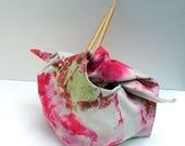 Bento Lunch Bag, Knitting Bag, Japanese Bag, Cotton Bag