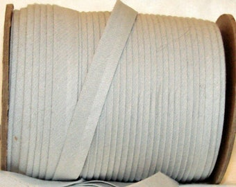 "10 yds Light GRAY 1/2"" EXTRA Wide Double Fold Bias Tape 100% Made in America"