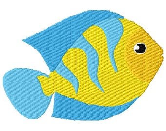 Fish Machine Embroidery Design - Instant Download