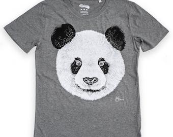 Panda t shirt graphic tee illustrated t-shirt mens t shirt unisex panda pattern tee organic t shirt
