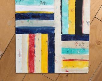 Original abstract Painting, Abstract Art, Original Art, Square Art, contemporary art, Fine Art, Modern Art, Stripes, Geometric Art