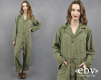 Vintage 90s Grunge Oversized Military Jumpsuit Army Green Jumpsuit Military Jumper Camo Jumpsuit Camouflage Jumpsuit Army Jumpsuit XL