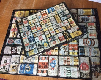Vintage Beer Can Puzzle COMPLETE