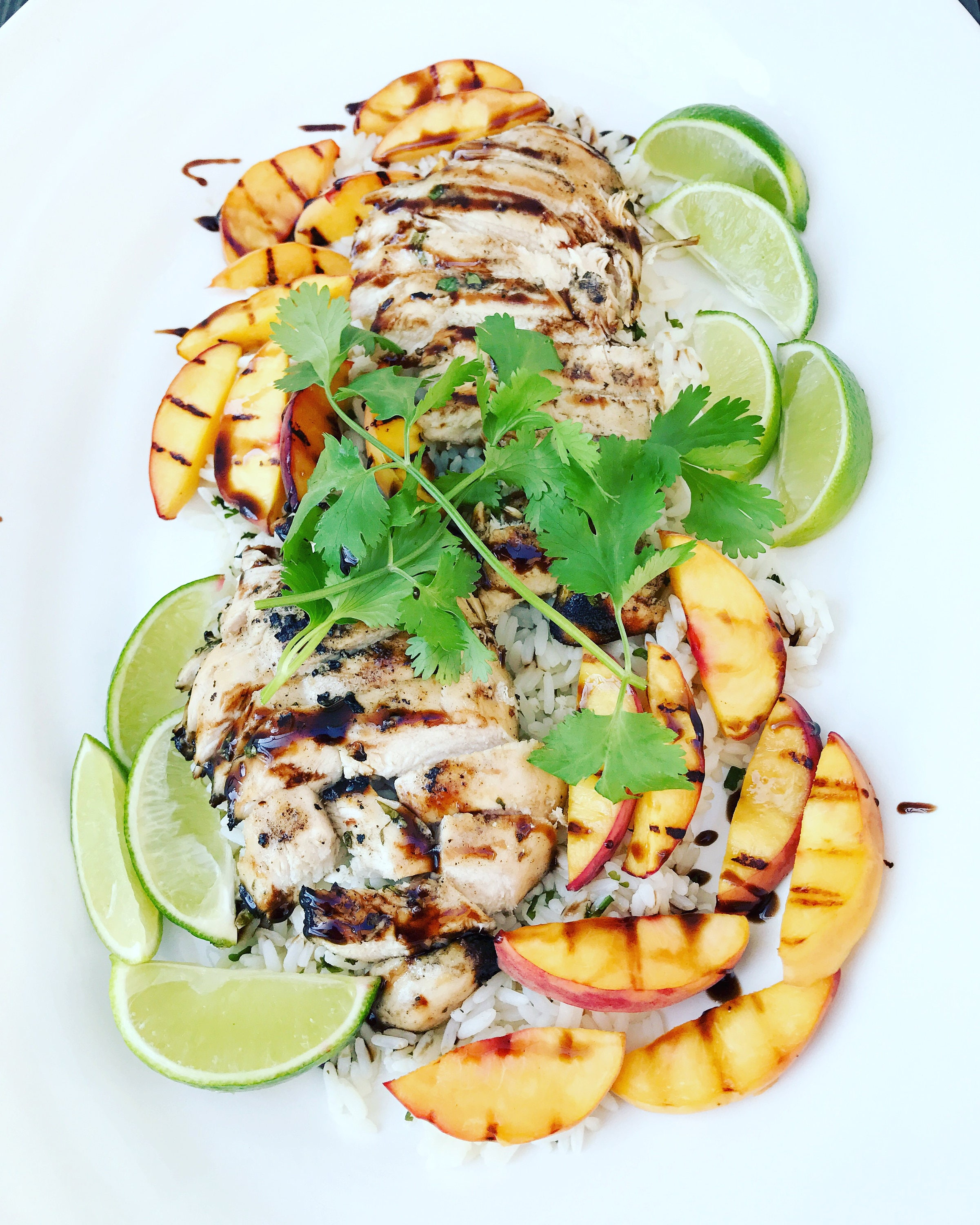 Grilled cilantro mojito chicken peaches with balsamic lime zoom forumfinder Choice Image