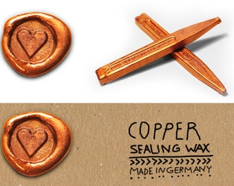 Copper Sealing wax, Sealing wax shellac copper, Sealing wax for wedding, Copper Sealing wax shiny, Metallic Sealing wax, Copper XMAS Idea