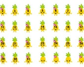 Pineapple date covers countdown