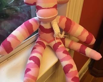 Pink Camo Sock Monkey
