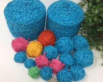 Yarn Recycled Linen Blend Sport Weight 2 Cakes + Bobbins 490 Yards 9.7 Oz Lot 677