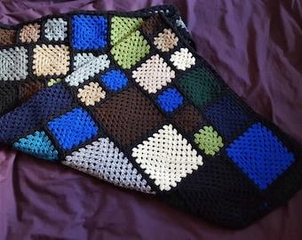 Granny square afghan blanket