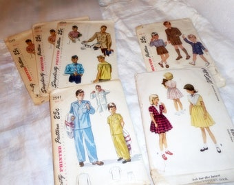 1950 Clothing Patterns , Vintage Patterns, Boys and Girls Patterns , Retro Clothing Paper Patterns, Art Supplies