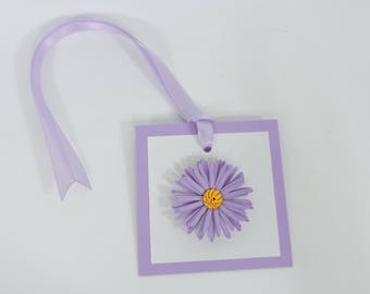 Aster Daisy Paper Flower Gift Tags Set of 6 for Birthday Party, Baby Shower or Wedding Decor Custom Colors Available