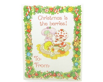 Strawberry Shortcake Gift Tag - Christmas is the Berries