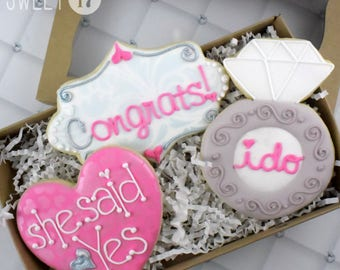 Engagement Sugar Cookies Box Set