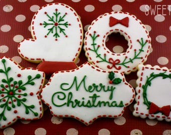 Christmas Sugar Cookies (Set of Ten)