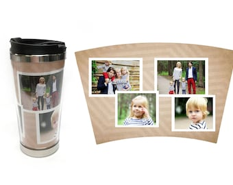 Coffee Tumbler Photo Gift | Travel Mug | Personalized Coffee Tumbler | Coffee Mug | Photo Tumbler | Gifts for Him Gifts for Her | Photo Mug