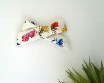 Floral hair bow clip girls vintage modern spring easter
