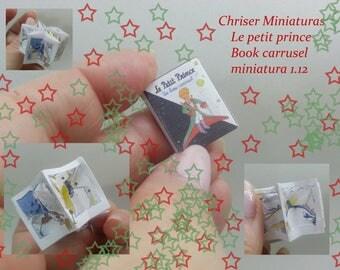 Libro  le petit prince carrusel miniature.