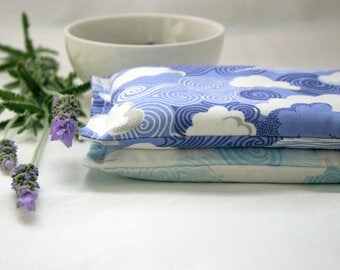 Set of 2 Eye Pillows - Lavender and Flax Seed Eye Pillows - Sunnyside Scented Gift Relaxation Yoga Meditation