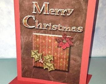 Merry Christmas Card Handmade Digital Photo Card