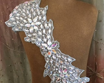 Opalescent Clear Beaded Appliques