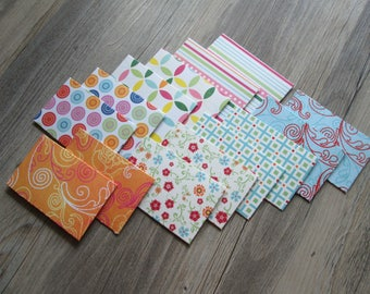 Mini Envelopes >> set of 14, Snail Mail, Penpals, Stationery, Envelopes, embellishments, gift card holder