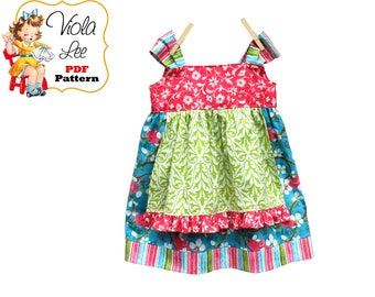 Girls Dresses, Girls Apron Dress Pattern pdf. Jumper Pattern. Toddler Knot Dress Sewing Pattern. Toddler Dress. Girls Dress Pattern. Josie