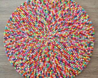 Mix max felt ball rug,nursery felt ball rug, kids room felt ball rug, living room felt ball rug, home delivery