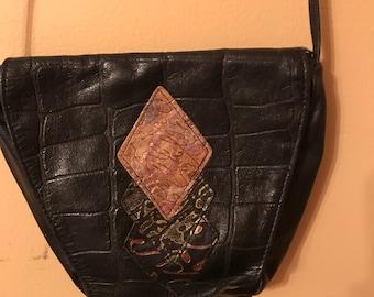 Vintage Cross Body Black Bag