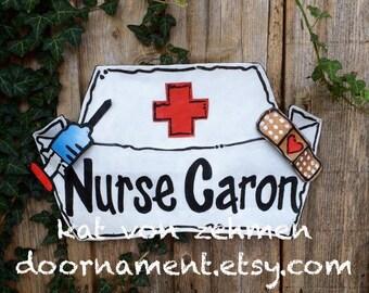 Nurse Door Hanger, Teachers gift, Nurses gift, School Nurse Gift, Personalized Nurse Teacher Gift Door Hanger Wreath