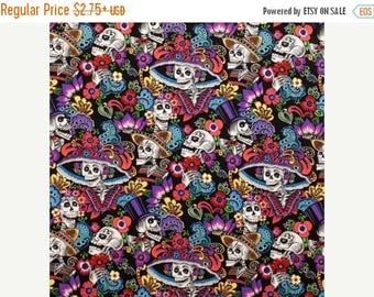 ON SALE Folklore Fabric, Catrina Chiquita by Alexander Folklorico Fabric, Mexican Fabric, Day of the Dead Fabric, 01062A