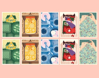 New Home Postcard Set - Inspired by Lithuania Series