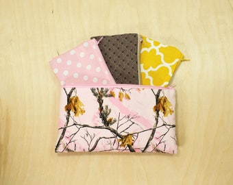 Kids Cash Envelope Wallet, Kids Cash Budget System, Give, Save, Spend -Real Tree Pink- READY to SHIP