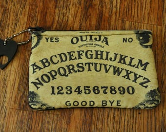 Ouija board pouch with planchette charm