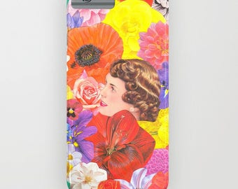 "Collage ""Elizabeth"" Vintage Floral Phonecase - for IPhone and Samsung Galaxy."