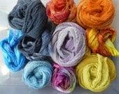 Nono fabrics? Mix of cotton scrim and  hand dyed Margilan silk gauze  - Nuno Fab 03