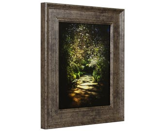 """Craig Frames, 20x24 Inch Tarnished  Silver Picture Frame, Revival, 2"""" Wide (FM97SI2024)"""