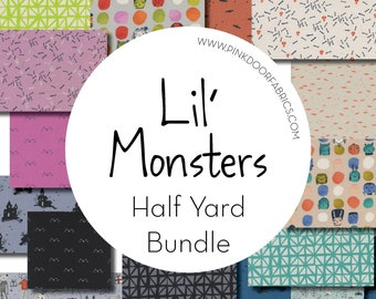 PRESALE - Lil' Monsters - Cotton + Steel - Half Yard Bundle