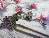 FRENCH GARDEN ooak Enchanting Antique Style Hair Stick, Hair Prong, Hair Accent