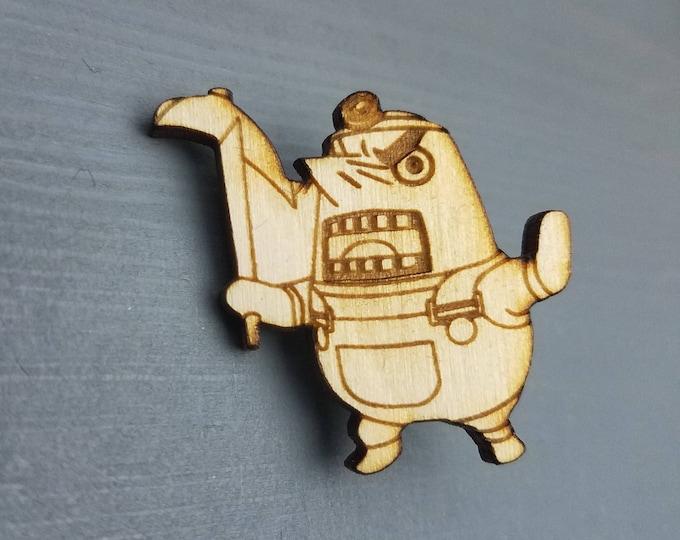 Animal Crossing Mr Resetti Pin | Laser Cut Jewelry | Wood Accessories | Wood Pin