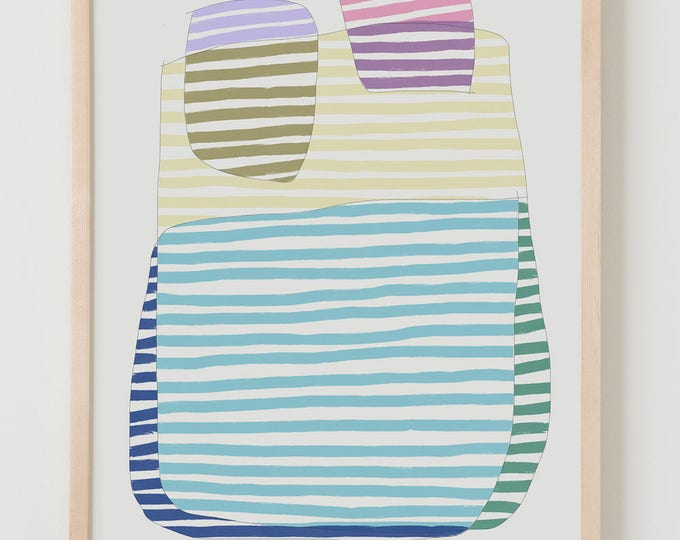 Fine Art Print.  Stripe Study Multicolor, September 5, 2017.