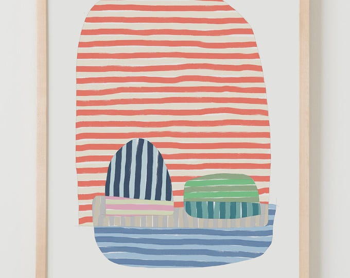 Fine Art Print.  Stripe Study Orange Multicolor, September 9, 2017.
