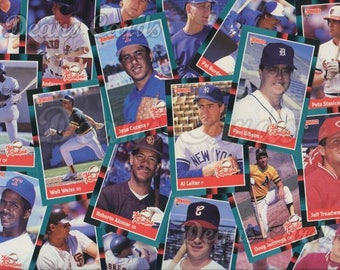 Vintage Baseball Cards 71-141 Donruss 1988 Singles, Combined Shipping, Order 1 or more cards and pay one combined shipping price